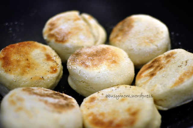 grilled english muffins