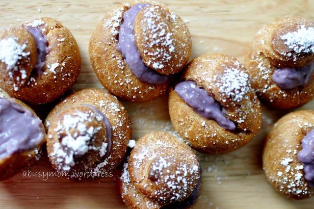 purple sweet potato choux puff